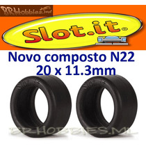 Autorama Pneu Slot.it Novo Composto N22 20x11.3mm Par