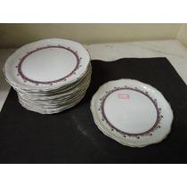 #9095# 11 Pratos Em Porcelana Real Sobremesa Antigo!!!