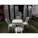 Jogo De Mesas Com 4 Cadeiras Novas