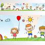 Adesivo 123 Faixa Border Criança Pipa Balao 05 Un Mod 451