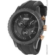 Relógio Magnum Ma33504p Chronograph Aço Black Sport 100wr Nf
