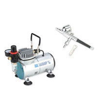 Kit Compressor Co Mp-1 + Aerógrafo Mp-1001 0,35mm Wimpel