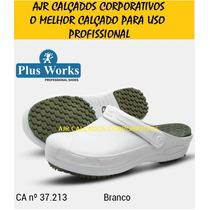 Sapato Crock Profissional Soft Work Plus Palmilha Pu Com Ca