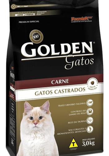 Ração Golden Castrados Premium Especial Gato Adulto Carne 3kg