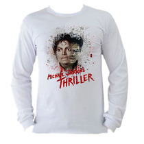 Camisetas Michael Jackson Thriller Manga Longa Adulto