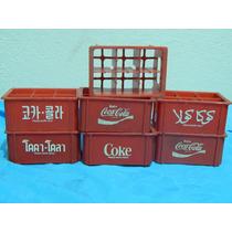 Miniatura De Caixinha Coca-cola Anos 80 Garrafinhas Vidro