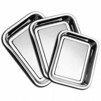 Conjunto Assadeiras 3 Pcs Aço Inox Cozinha Mundial Xum15-005