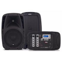 Caixa Ativa + Passiva + Mesa + Microfone Sistema Pa Portátil