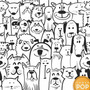 Papel De Parede Pet Animais Gato Cachorro Preto Branco 3m
