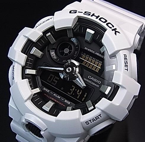 894c5a302d8 Relogio Casio G-shock Ga 700 7adr Branco Original Lata Ga700