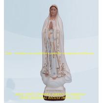Escultura Nossa Senhora Fatima Linda Imagem 30cm Fabrica