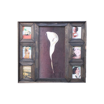 Porta Retrato Quadro De Fotos Madeira Rústica - Várias Fotos