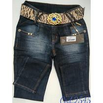 Calça Feminina Jeans Oppnus Cig Cós Alto Lycra Cód. 2545