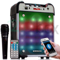 Caixa De Som Bluetooth Amplificada Com Microfone Mp3 Usb