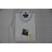 Camisa Social Masculina Polo Rauph Lauren, Cor Branco