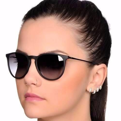 Óculos Feminino Masculino Erika Preto Fosco Lente Degradê. R  39 b1cf281bb3