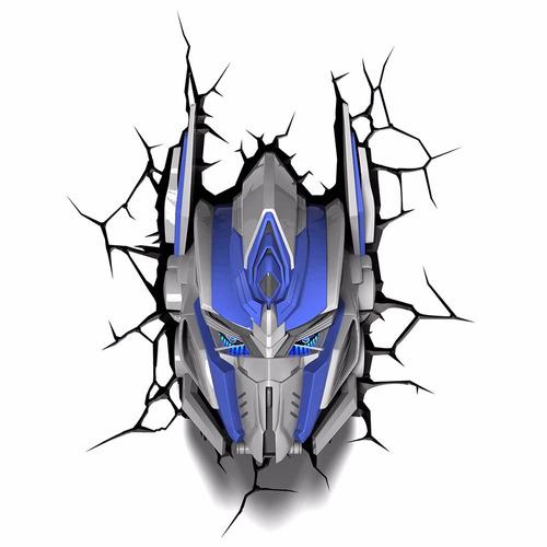 Luminária 3d Light Fx Transformers Optimus Prime