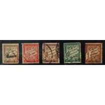 França - 05 Selos Antigos 1894 A 1935 - Postage Due