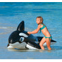 Bote Boia Inflável Baleia Gigante 193 Com Alça - Intex 58561