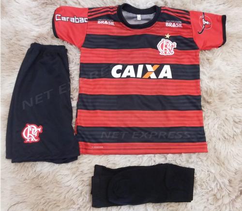 Uniforme Infantil Flamengo Camisa Kit Mais Meião Mod. 2018 46c144c25e4