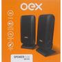 Caixa De Som Speaker Oex Slim Usb, P2, 3w Sk-101 Preto