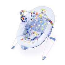 Cadeira De Descanso Azul Urso Vibra 0-11kg