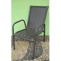 Cadeira Poltrona Area Varanda Junco Fibra Sintética Argila T