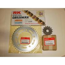 Kit Relação Transmissão Cb-500r 14/15 Corrente Rk Dourada