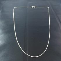 Promoção Corrente Prata Maciça 925 Masculina Fina 60 Cm
