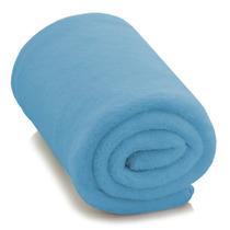 Cobertor Manta Solteiro Em Soft - Adulto - Azul Claro - Lux