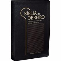 Bíblia Do Obreiro Editora Sbb Ra Média Capa Couro Preta