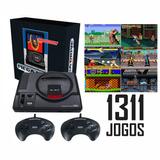 Console Mega Drive Tec Toy + 2 Controles Com 1311 Jogos