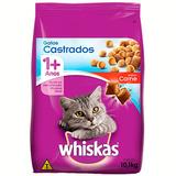 Whiskas Castrados Carne 10,1kg Sem Corantes Artificiais