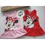 Vestido Minnie Bebê Infantil Algodão Tamanho 1,2 E 3 Anos