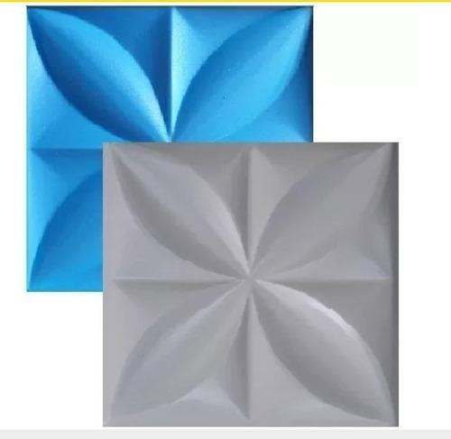 1 Forma De Plastico Com Eva Para Cimentício E Gesso 3d; Flor