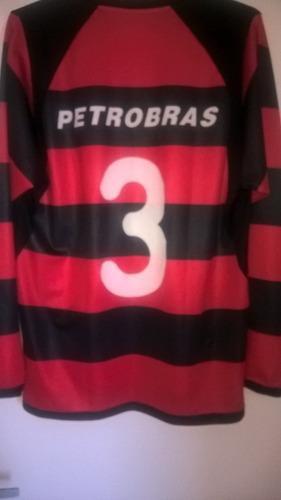 Camisa Flamengo Manga Longa Nike 2001 Jogo  3 Coleção   Rara 25d7865b1a78f