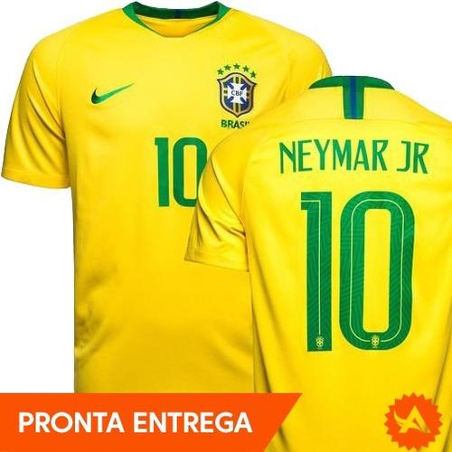 b86fcf2861 Camisa Seleção Brasileira 10 Neymar Jr Nike Amarela Original - R ...