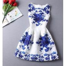 Vestido Curto Sexy Floral Sem Mangas Gola O Frete Importado