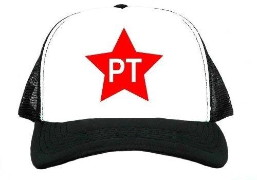 8b669952088e2 Boné Aba Curva Trucker Pt Partido Trabalhadores Promoção - R  22 en ...