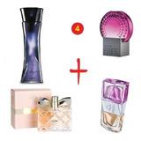 Perfume Feminino Kit Com 4 Unds 50 Ml Cada