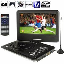 Dvd Portátil 9,8 Polegadas Com Tv Tela Led Usb Cartão Sd Fm