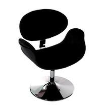 Cadeira Tulipa (pierre Paulin) Base Disco - Preta - Velotec