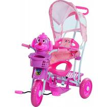 Carrinho Bebê Passeio Triciclo Capota 3 Em 1 Rosa Bel 910700