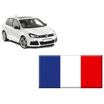 Emblema Adesivo Resinado Bandeira França Universal