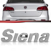 Emblema Tampa Porta Malas Fiat Siena 2000 Até 2012 Cromado