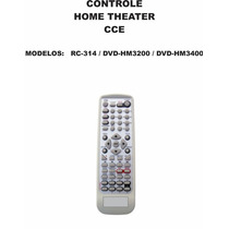 Controle Remoto Home Theater Cce Rc-314 Dvd-hm3200 Dvdhm3400