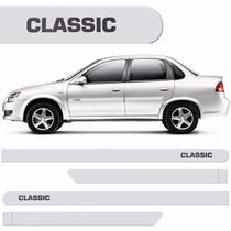 Friso Lateral Chevrolet Classic Branco Summit #