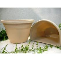 10 Vasos De Parede G Bege P/ Jardim De Inverno E Suculentas