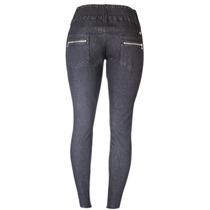 Calça Jeans Preta Fem Cós Médio Elastico Tamanho 36 Ref 1519