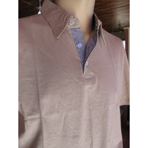 Camisa Country Polo Masculina Cor Bege